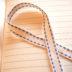 グログランリボン(オフホワイト&ブルー)1メートル